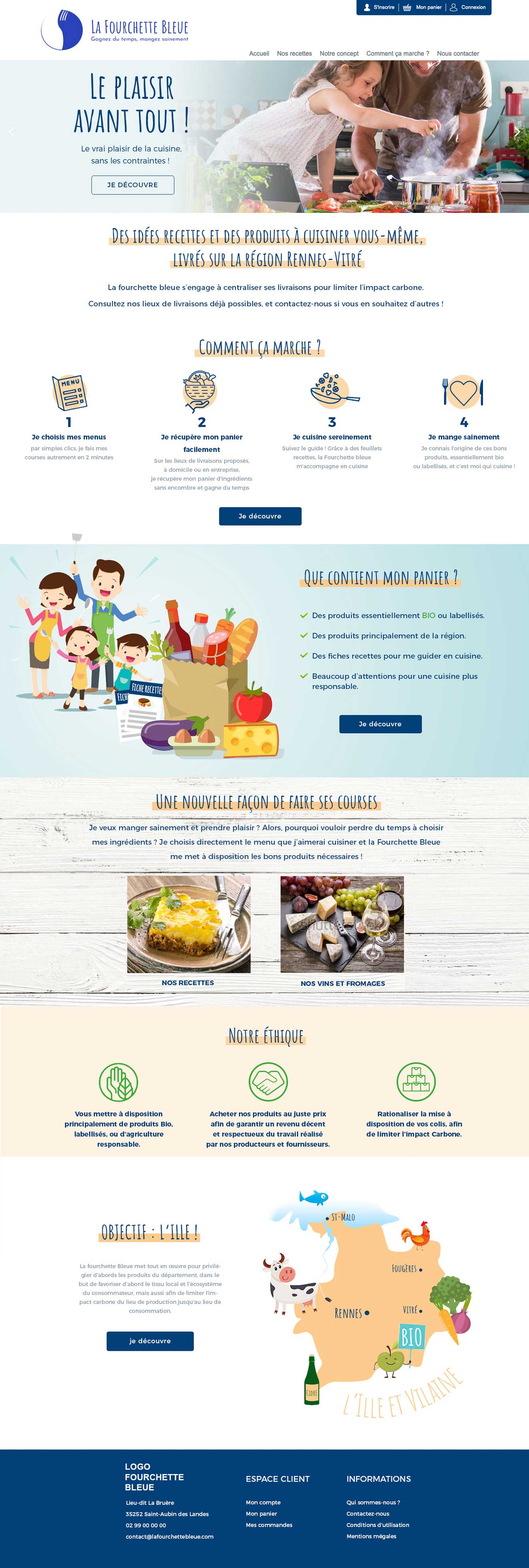 Page d'accueil La Fourchette Bleue