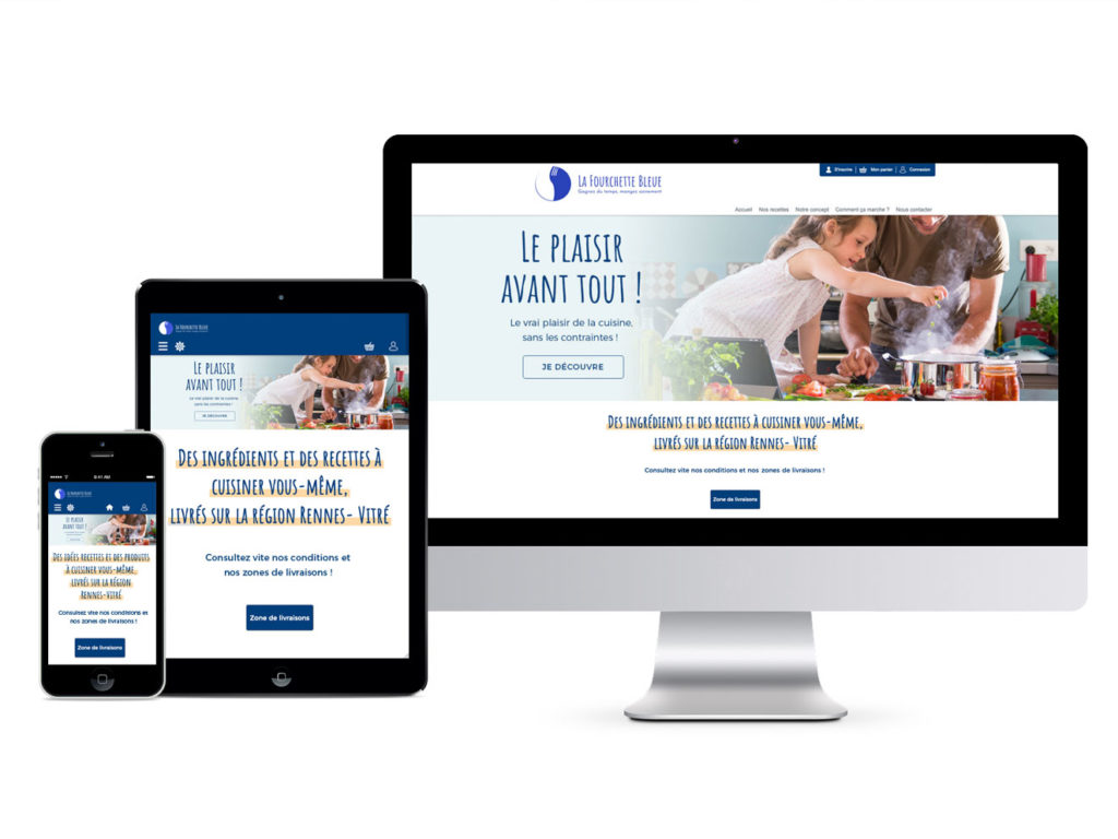 Responsive design La Fourchette Bleue