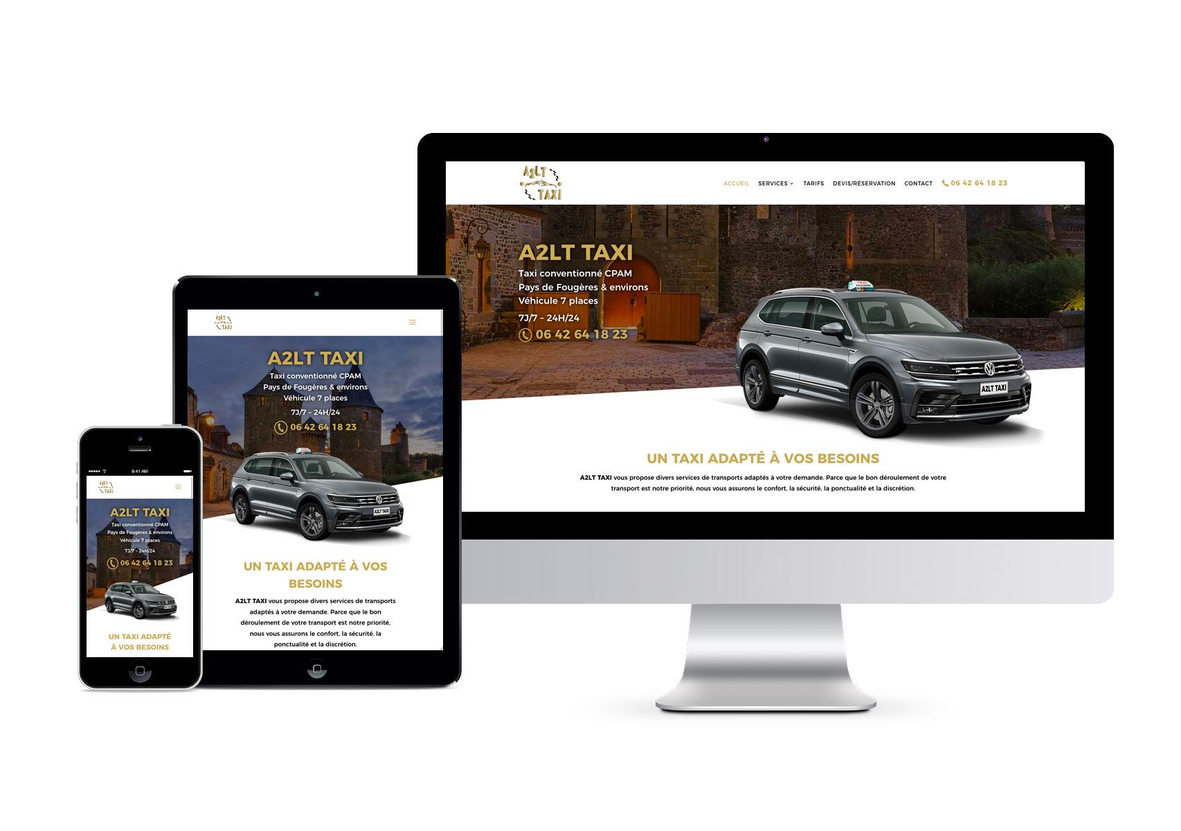 Site internet responsive A2LT Taxi