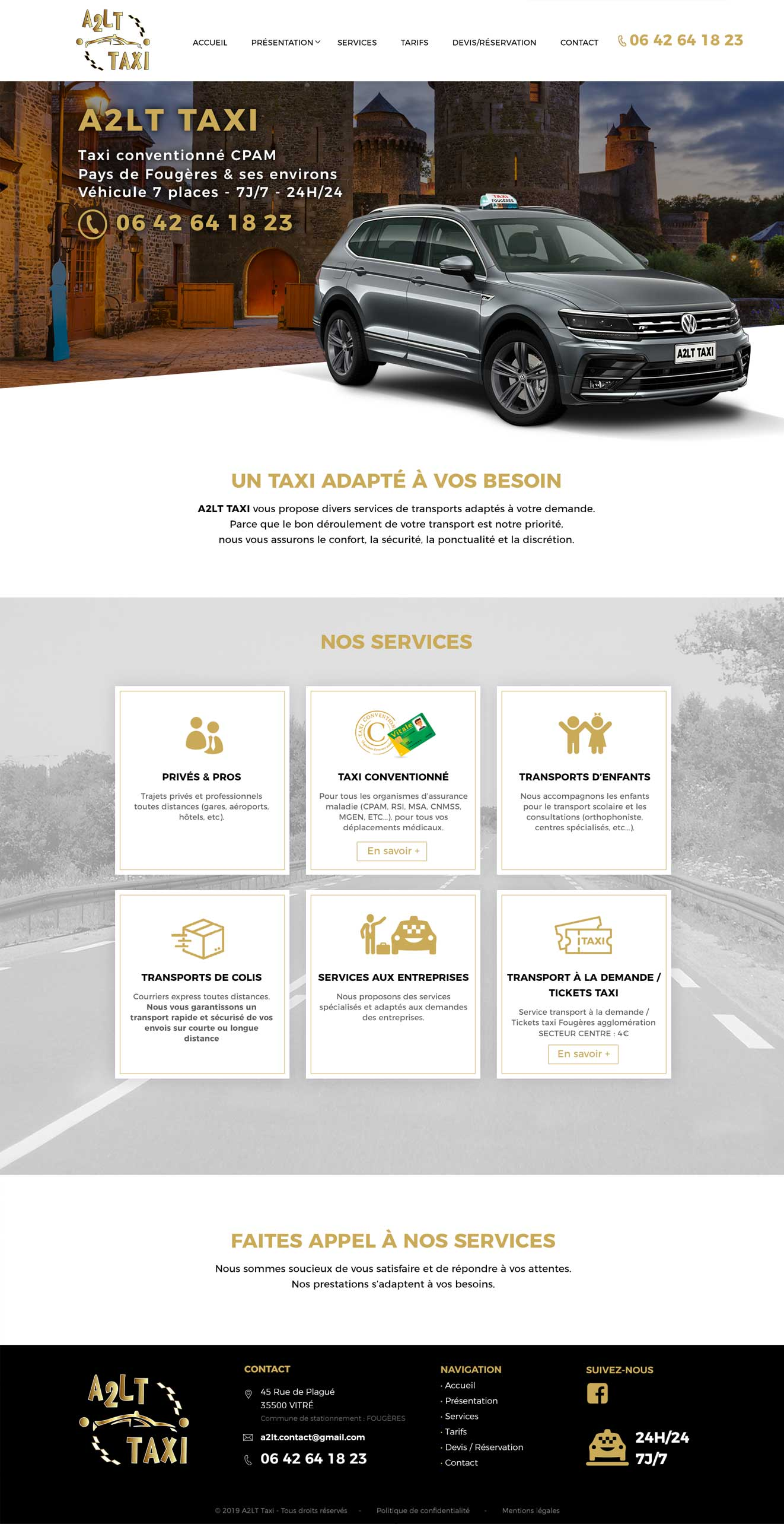 webdesign A2LT Taxi